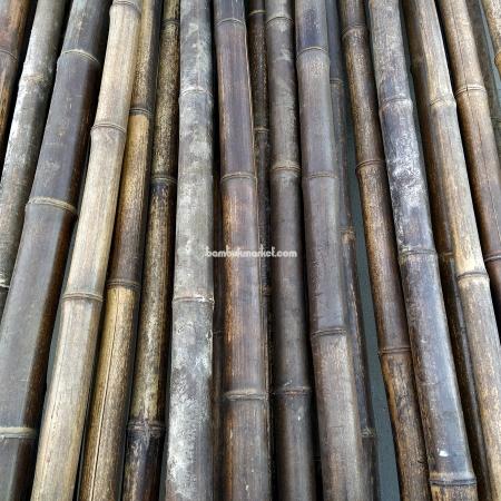 Бамбуковый ствол,  Ø4-5см, L 3м, черный, СОРТ 2 - фото 1