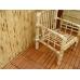 Бамбуковые обои, ширина 0,9м, черепаха шоколадная, матовый лак, планка 17мм – фото 5
