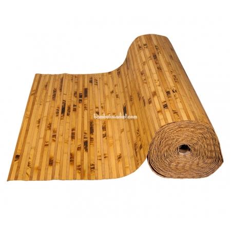 Бамбуковые обои, ширина 1,8м, комби желтая черепаха/тонированные, матовый лак, планка 12/8мм - фото 1