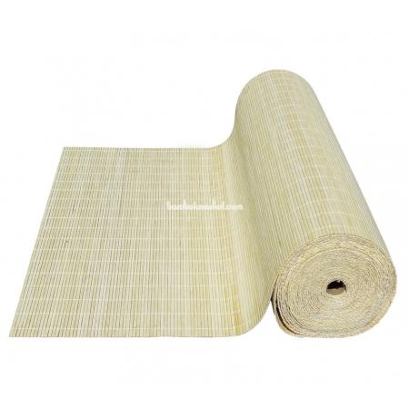 Бамбуковые обои, ширина 1,8м, натуральные, с нитью, матовый лак, планка 5мм - фото 1