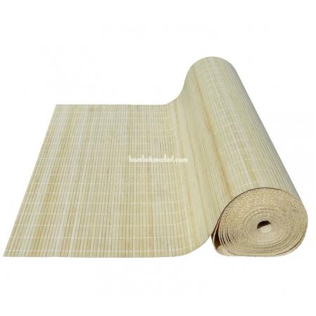 Бамбуковые обои, ширина 2,5м, натуральные, с нитью, матовый лак, планка 8мм - фото 1