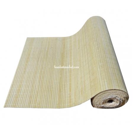 Бамбуковые обои, ширина 2,5м, натуральные, с нитью, матовый лак, планка 12мм - фото 1