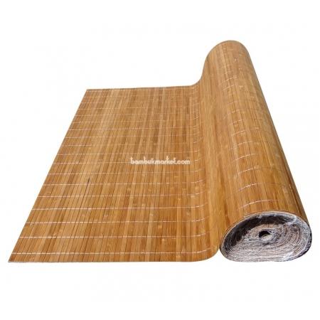 Бамбуковые обои, ширина 1,8м, тонированные, с нитью, матовый лак, планка 12мм - фото 1
