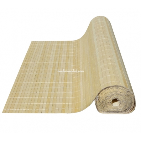 Бамбуковые обои, ширина 1,8м, натуральные, с нитью, матовый лак, планка 17мм - фото 1