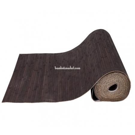 Бамбуковые обои, 10х0,9м, венге, матовый лак, полоса 12мм - фото 1