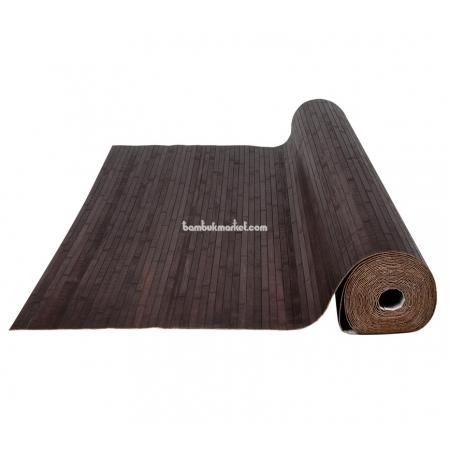 Бамбуковые обои, ширина 0,9м, венге, матовый лак, планка 17мм - фото 1