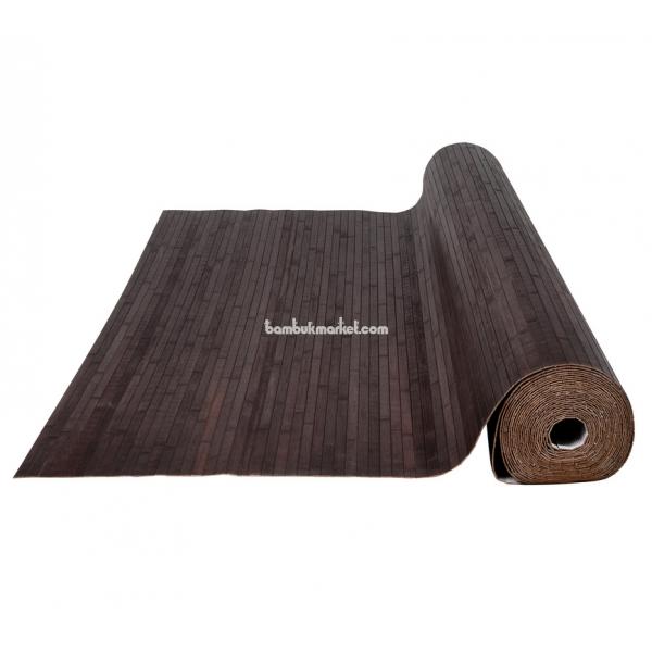 Бамбуковые обои, 10х1,8м, венге, матовый лак, полоса 17мм – фото 4