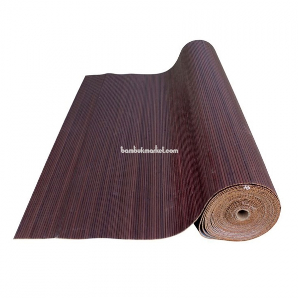 Бамбуковые обои, 10х1,8м, венге, матовый лак, полоса 5мм – фото 5