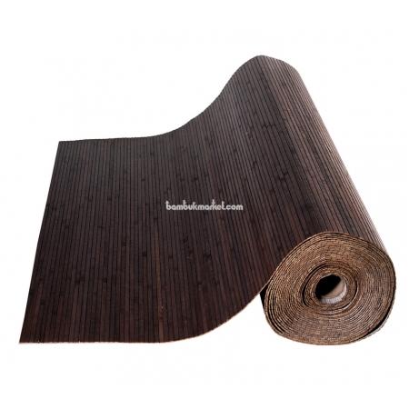 Бамбуковые обои, 10х0,9м, венге, матовый лак, полоса 8мм - фото 1