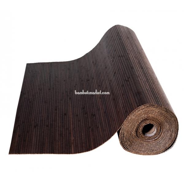 Бамбуковые обои, 10х1,8м, венге, матовый лак, полоса 8мм – фото 6