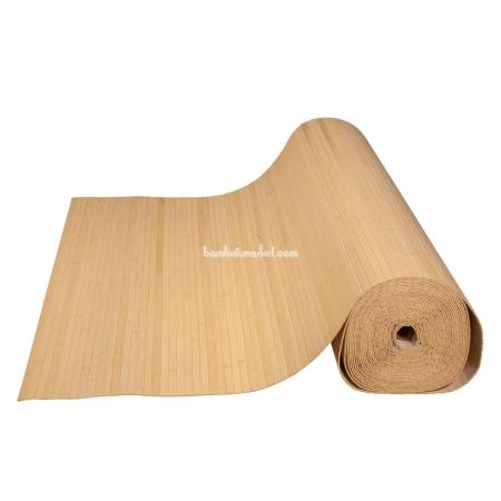 Бамбуковые обои, ширина 2,5м, натуральные, матовый лак, планка 12мм - фото 1