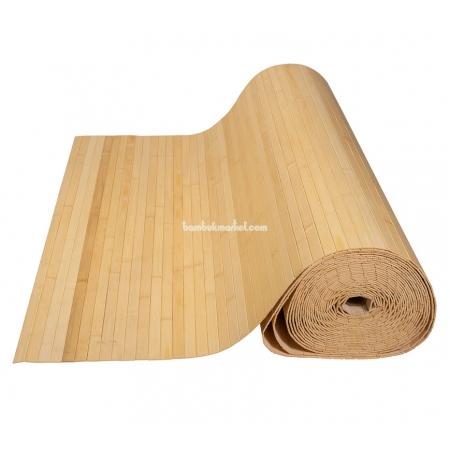 Бамбуковые обои, ширина 1,8м, натуральные, матовый лак, планка 17мм - фото 1