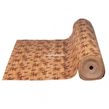 """Бамбуковые обои, ширина 0,9м, принтованные """"Листья бамбука"""", матовый лак, планка 8мм - фото 1"""