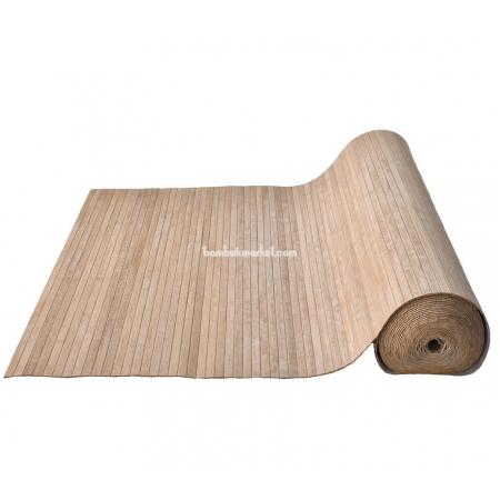 Бамбуковые обои, ширина 1,8м, кофейные, матовый лак, планка 17мм - фото 1