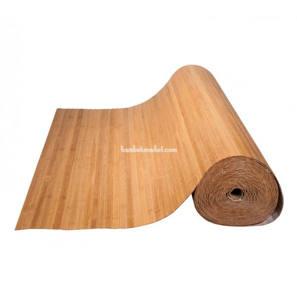 Бамбуковые обои, 15х1,0м, бренди, матовый лак, полоса 17мм