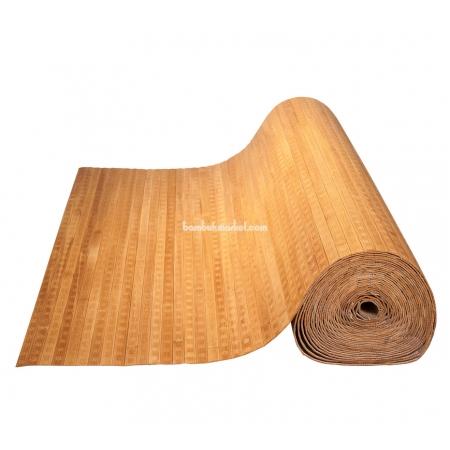 Бамбуковые обои, ширина 2,5м, бренди волна, матовый лак, планка 17мм - фото 1