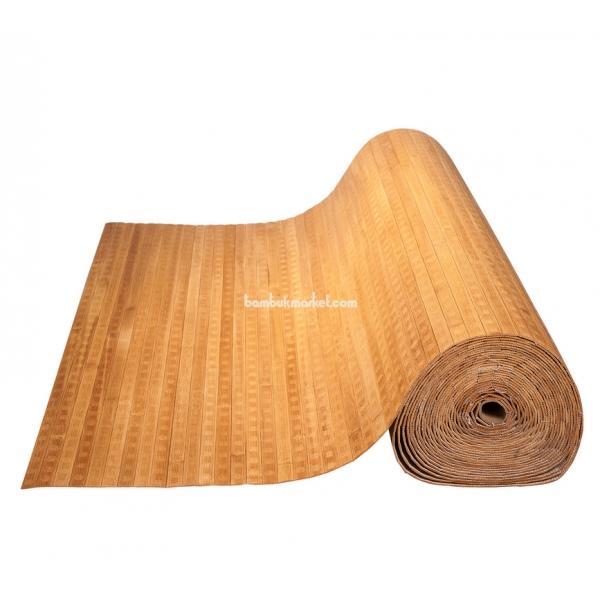 Бамбуковые обои, 10х1,8м, бренди волна, матовый лак, полоса 17мм – фото 1
