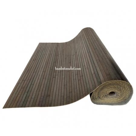 Бамбуковые обои, ширина 1,5м, серо-зеленые, матовый лак, планка 17мм - фото 1