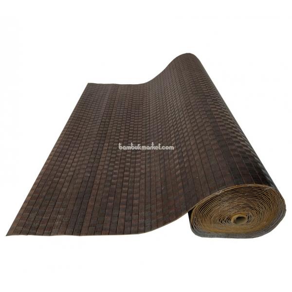 Бамбуковые обои, 10х1,8м, венге волна, матовый лак, полоса 17мм – фото 2