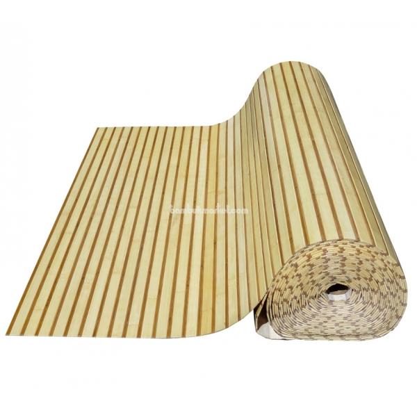 Бамбуковые обои, 10х1,8м, комби светло/темные, глянцевый лак, полоса 17/5мм – фото 8