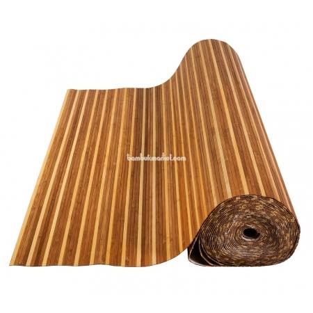 Бамбуковые обои, ширина 2,0м, комби темно/светлые, матовый лак, планка 8мм - фото 1