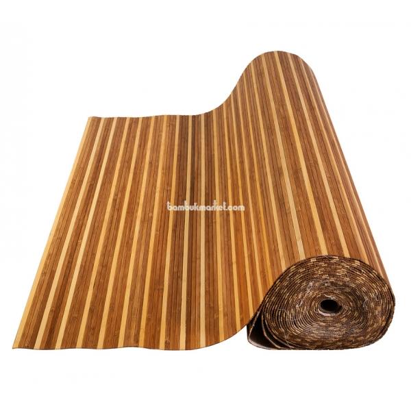 Бамбуковые обои, 10х1,8м, комби темно/светлые, матовый лак, планка 8мм – фото 10