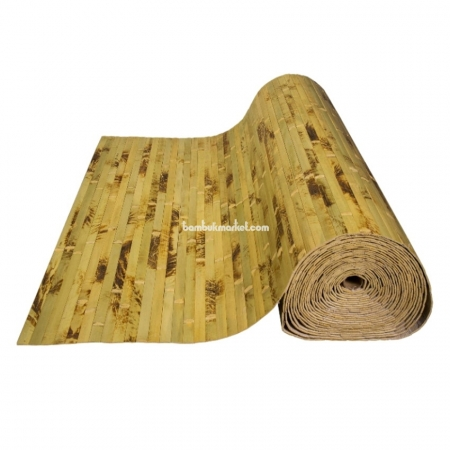 Бамбуковые обои, ширина 2,5м, черепаха фисташковая, матовый лак, планка 17мм - фото 1