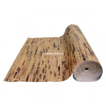 Бамбуковые обои, ширина 0,9м, черепаха шоколадная, матовый лак, планка 17мм - фото 1