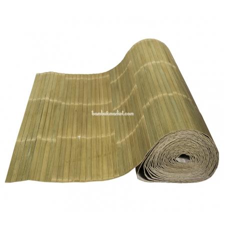 Бамбуковые обои, ширина 2,5м, лайм, матовый лак, планка 17мм - фото 1